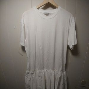 NWT Stella McCartney Ruffled Hem T-shirt Dress